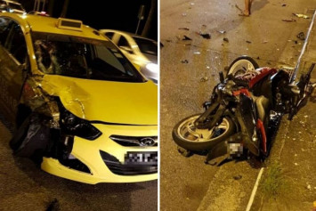 Motorcyclist's hand severed in accident with taxi along Republic Boulevard