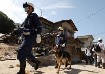 Fierce heatwave hits Japan flood recovery