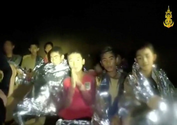 Fresh navy video shows Thai cave boys in 'good health'