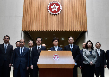 Hong Kong Chief Executive Carrie Lam condemns protest violence, rail station attacks