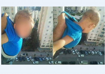 Baby dangling and other crazy lengths people go to for internet fame