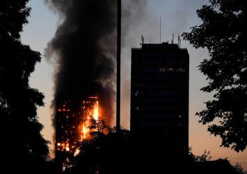Huge fire engulfs entire tower block in west London