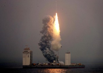 China conducts first sea-based space rocket launch