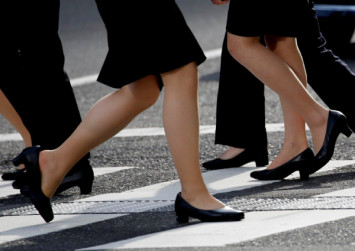 Women should wear high heels in workplace, says Japan's labour minister