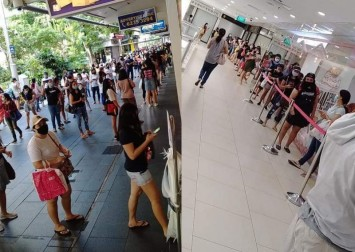 What circuit breaker? Snaking queue outside Lucky Plaza sparks concern
