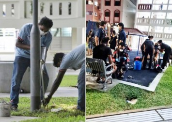 2 teens get electric shock from lamp post in Toa Payoh