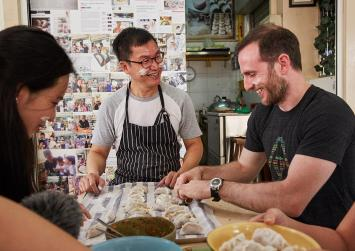 Airbnb boss shows he has mad skills in making soon kueh