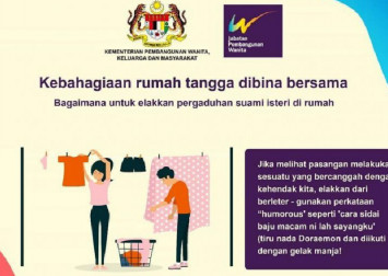 Malaysia's Women and Family Development Ministry criticised over Doraemon 'household happiness' posters