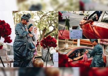 Malaysian couple holds 'drive-thru' wedding amid Covid-19 outbreak