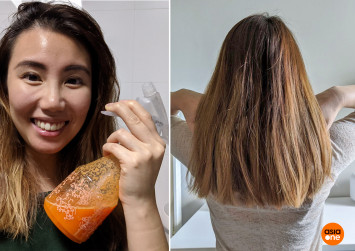 I try putting carrot juice on my hair - a quick treatment if you're stuck at home during the coronavirus outbreak