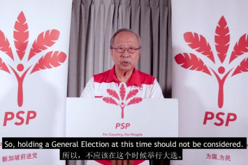 Singapore GE: Tan Cheng Bock urges government not to hold general election during coronavirus pandemic
