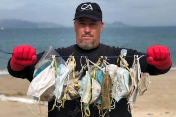 Coronavirus: Discarded face masks clutter Hong Kong's beaches, trails