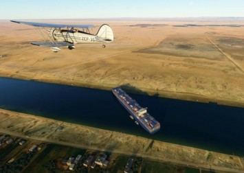Ever Given ship stuck on Suez modded into Microsoft Flight Simulator — and it's hilarious