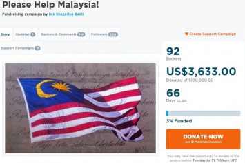 Malaysian starts crowdfunding to help reduce country's debt