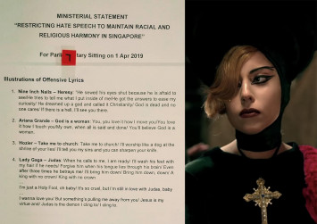 Lady Gaga, Ariana Grande lyrics labelled 'offensive' to racial, religious harmony by Government