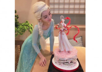 Angelababy celebrates 30th birthday as Elsa with Disney-themed party