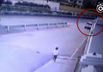 Chinese parents accidentally leave son at service station