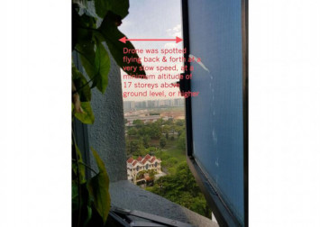 Police investigating report of drone flying outside 17th storey bathroom window in Pasir Ris