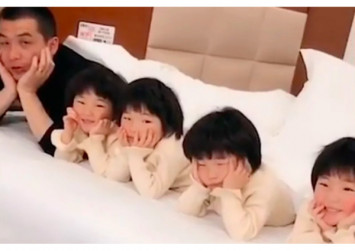 China's celebrity quadruplets lifting their family out of poverty