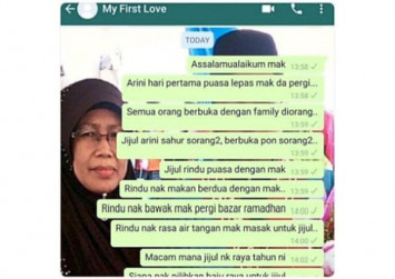 Grieving son's text messages to late mum go viral