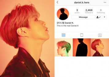 Kang Daniel breaks Instagram.... again, after creating new account