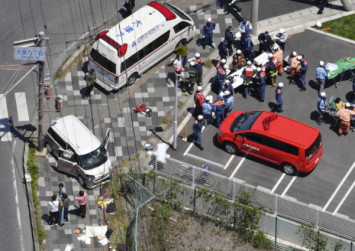 Two toddlers killed after car ploughs into group of kindergarten children in Japan