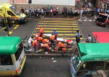 10 hurt in Hong Kong Island taxi crash during morning commute