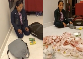 Helper attempts to smuggle thousands of dollars in drink cartons, gets exposed before flight home