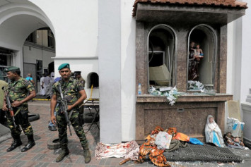 'It was a river of blood': Dashcam footage shows explosion outside Sri Lanka church