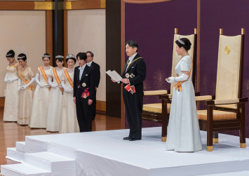 Emperor Naruhito ascends throne in Japan with 'sense of solemnity'