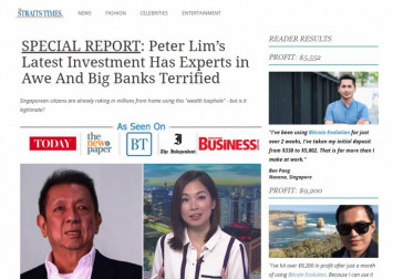Advertising scam promoting investment endorsed by billionaire Peter Lim resurfaces