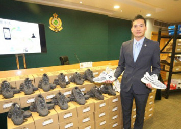 Hong Kong customs seizes fakes of Nike and Adidas trainers selling for up to $1,400 a pair