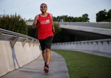 Man loses 26kg in 6 months through running, and will take part in the Sundown Marathon