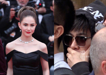 Jay Chou spotted at Cannes film festival 'spying' on wife Hannah Quinlivan