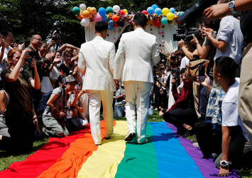 Taiwan to hold first gay weddings in historic day for Asia