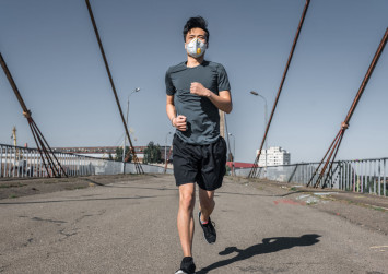 Chinese hospital warns against wearing masks while exercising after jogger suffers collapsed lung