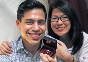 Singaporean man who donated kidney to father makes wedding ring from surgery staples