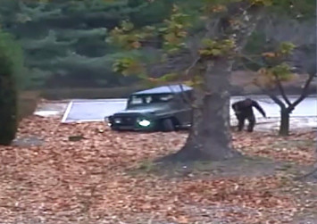 Dramatic footage shows North Korea defector's border dash