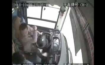 Blackbox footage shows fight erupting between driver and passenger before bus plunges into Yangtze
