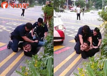 Aliff Aziz resists arrest, puts up violent struggle after drunken argument at Orchard Road