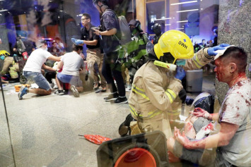 6 hurt in Hong Kong as knife-wielding man attacks family after argument over politics