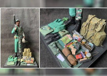 Transition in Singapore army eras captured in amazing, detailed miniature models