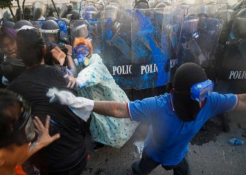 More than 40 hurt in Thailand's most violent protests since new movement emerged
