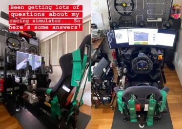 This high-end racing simulator rig built by a Singaporean hobbyist can be yours for just $30k