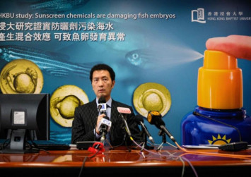 Hong Kong researchers warn of health risks due to some chemicals used  in sunscreen