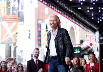 Richard Branson recalls rock 'n roll days as he gets Hollywood star