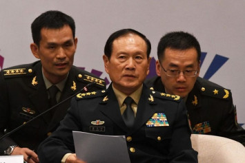 China's defence minister vows never to cede any territory, including Taiwan