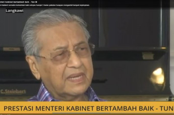 To Dr Mahathir, new ministers barely make the grade