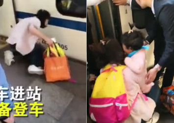 Mum using mobile phone fails to see daughter falling under train in Beijing