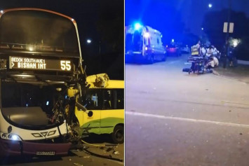 School bus driver and 10-year-old boy taken to hospital after accident with SBS Transit bus